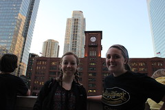Students at the Chicago River