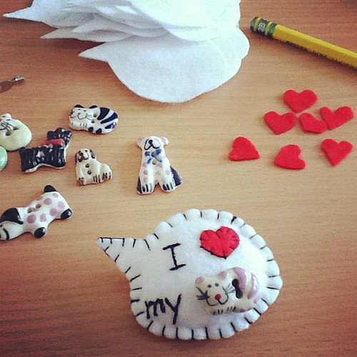 I love my... #handmade #brooches #felt