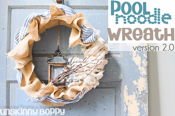 Burlap Pool Noodle wreath  (4 of 8- version 2.0)