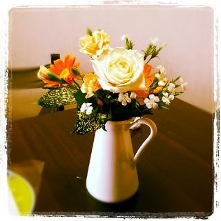 昨日もらった花
