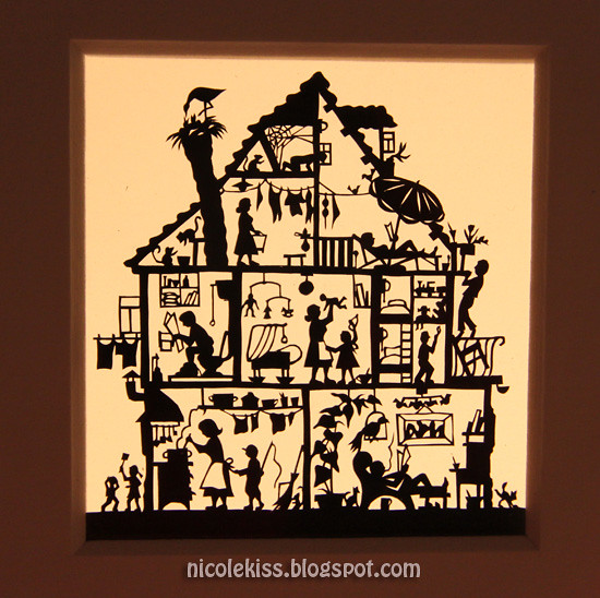 mini house paper cutout