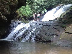 Me and Sophie on Sea Creek Falls
