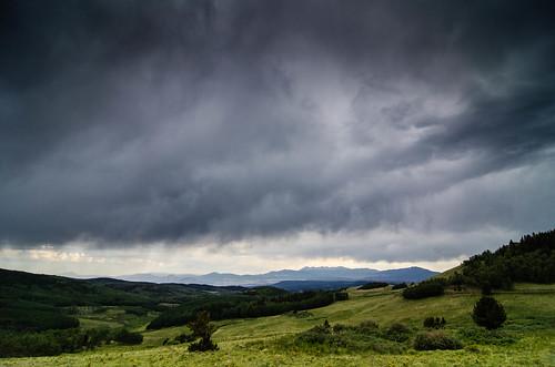 storm mountains clouds forest landscape nikon colorado unitedstates valley westcliffe sanisabel d7000