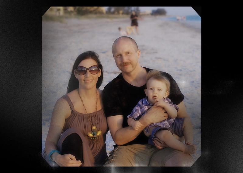 us three on beach