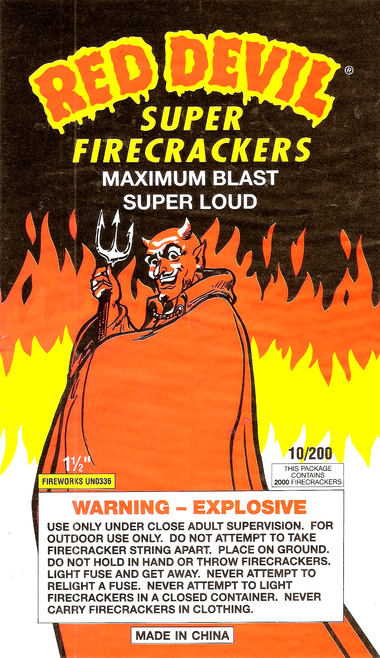 Red Devil - Firecracker Brick Label