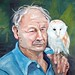 old man and his owl by JooJoo Train