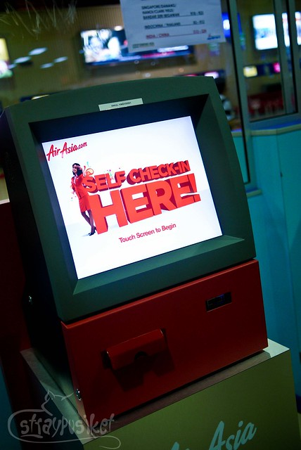 Air Asia's self check-in kiosk
