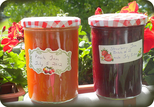 peach and strawberry jam