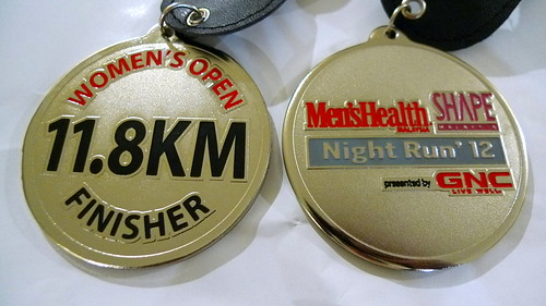 Rare Shape Night Run Medal