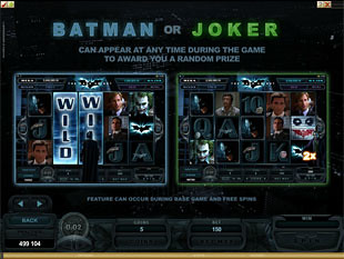 The Dark Knight Bonus Game