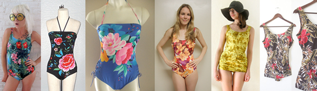 Tonic Tuesday • Vintage Floral One-Piece Bathing Suits