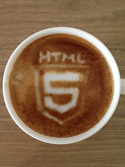 Today's latte, HTML5. ...How many times did I try this?