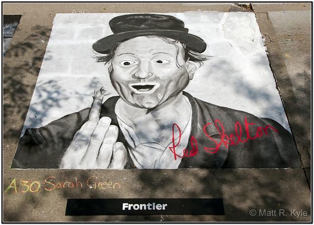 Red Skelton Freddie The Freeloader Painting