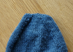 Toe of sock