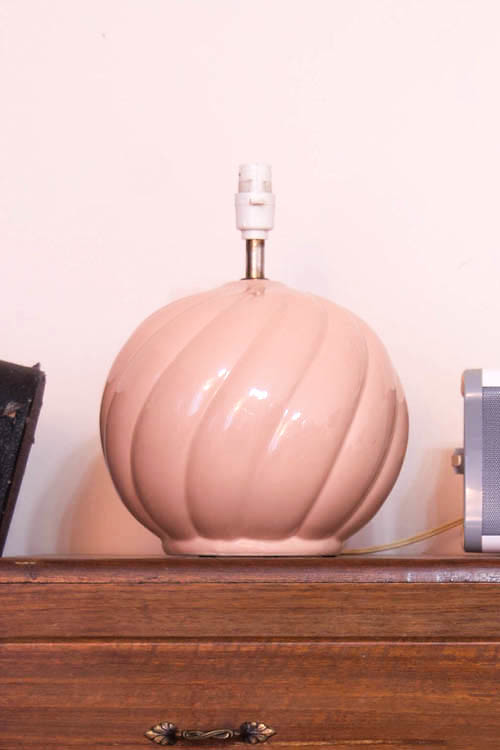 Peach lamp without lampshade
