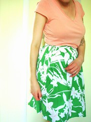 Betty skirt - leaf lawn 2