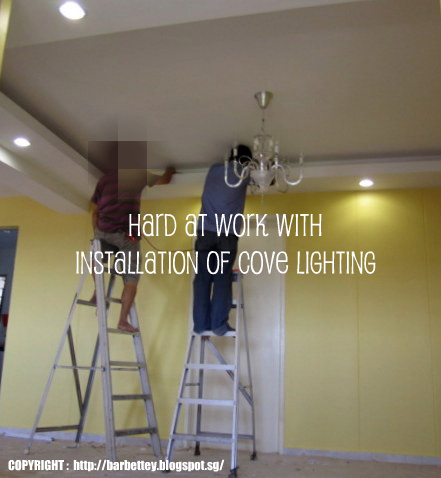 cove lighting diy. The Completed Outlook Of Our False Ceiling Pending Furnishing Cove Lighting Diy