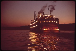 Paddlewheel Steamboat On Ohio River, May 1972