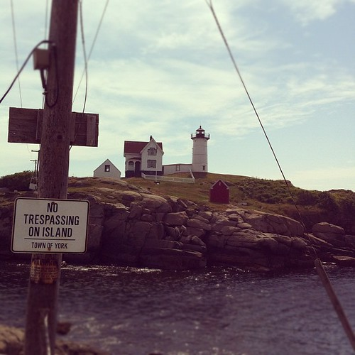 I've never been tempted, thanks, as it would require riding in that little bucket across the channel #lighthouse #morning #maine