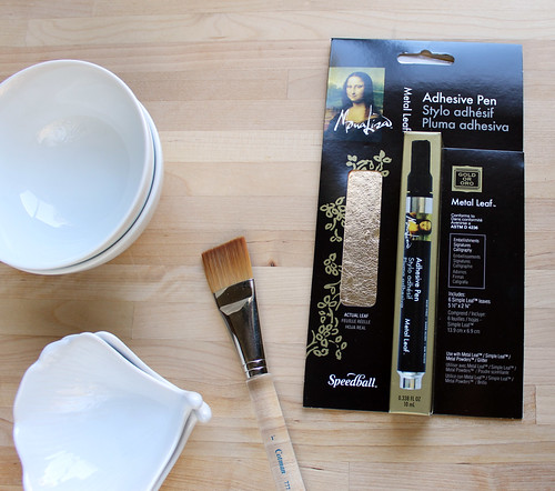 gold leaf diy tutorial supplies