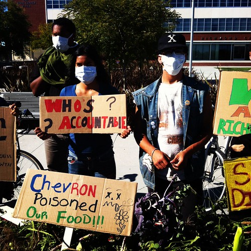 #chevron fire poisoned our food #Richmond