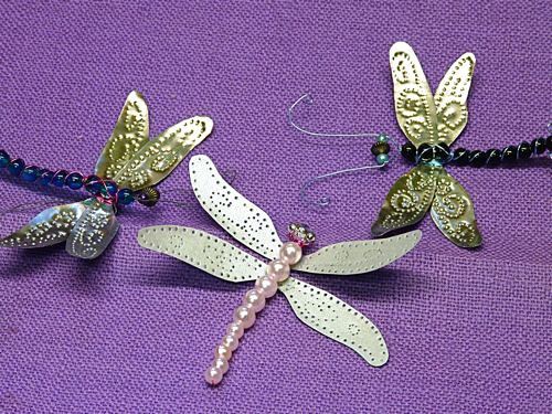 "Punched Tin ""Paper"" Dragonfly Wings"