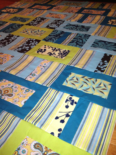 Closeup quilt top - wedding quilt 2