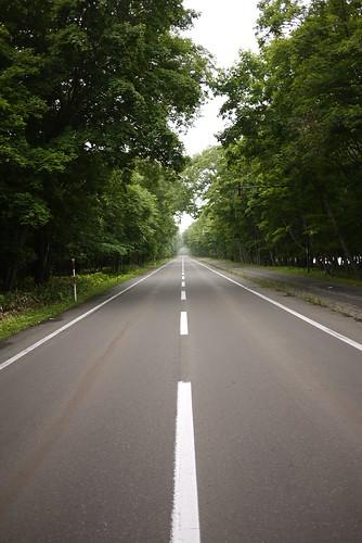 Quiet roads along Lake Kusharo (Hokkaido, Japan)