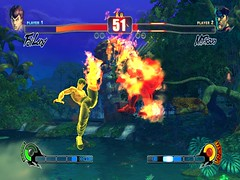 SF4 Fei Long's EX Shienkyaku vs M.Bison's j.HK