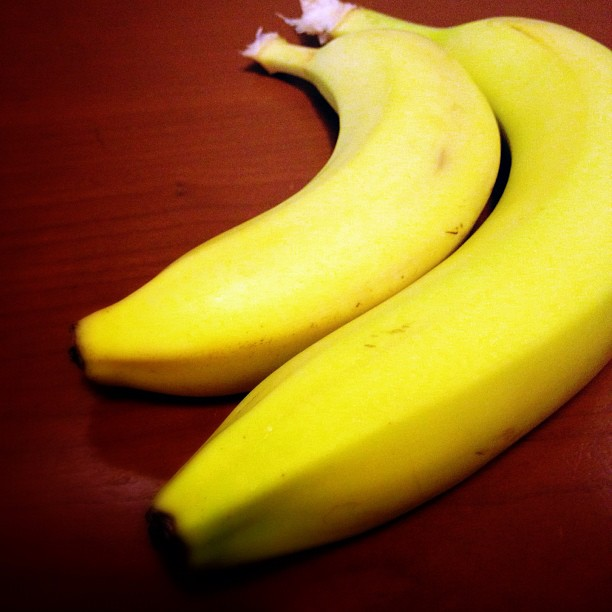 Testing the theory that eating bananas makes a person feel good #walkingtoworktoday
