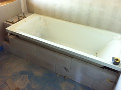 Bath goes in