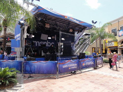 MSNBC stage at Channelside