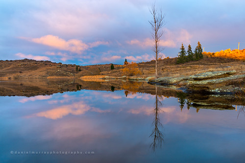 morning newzealand lake reflection water sunrise landscape scenery nz centralotago southnz