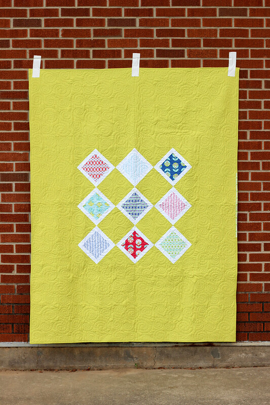 Framed Color Me Retro Quilt