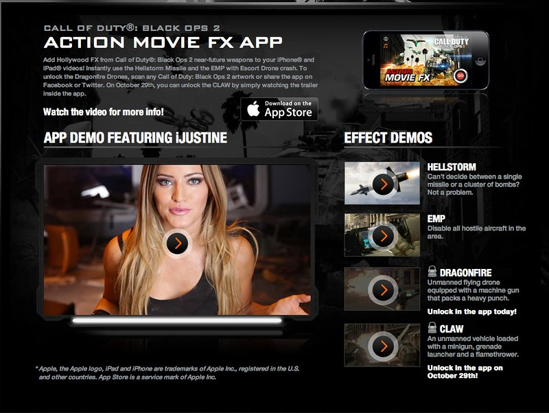 iJustine! Call of Duty®: Black Ops 2 Action Movie FX App
