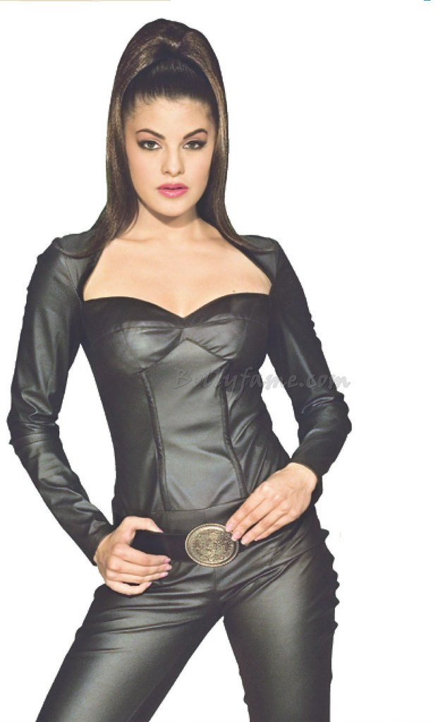 Jacqueline fernandez curvy figure in tight black dress www bollyfame