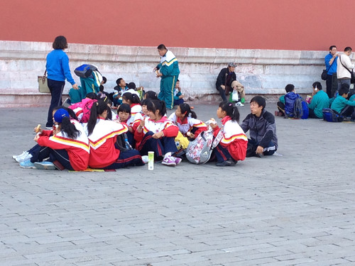 School Group, the Forbidden City, Beijing