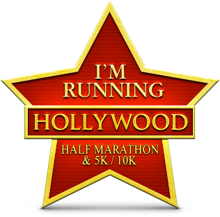 Hollywood Half marathon badge
