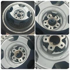 #For#Sale#Used#Parts#StarForm#Type#D-Evolution#Wheels#Rims#17inch#alyehliparts#alyehli#UAE#AbuDhabi#AlFalah#City                              Star Form Type D Evolution - 17 ' Front Wheel :17x8J 5H 114.3 OFF 44 Rear  Wheel :17x9J 5H 114.3 OFF 44