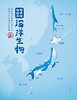 Sea creatures map of Japan - 日本海地図の海洋生物 by Jemppu M