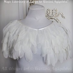#wedding chiffon feather cape #angel #beautiful #royal #bride #etsy #outfit #look #fashion #princess #design #wings #shabbychic