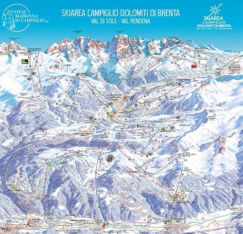 Campiglio Dolomiti di Brenta - mapa sjezdovek