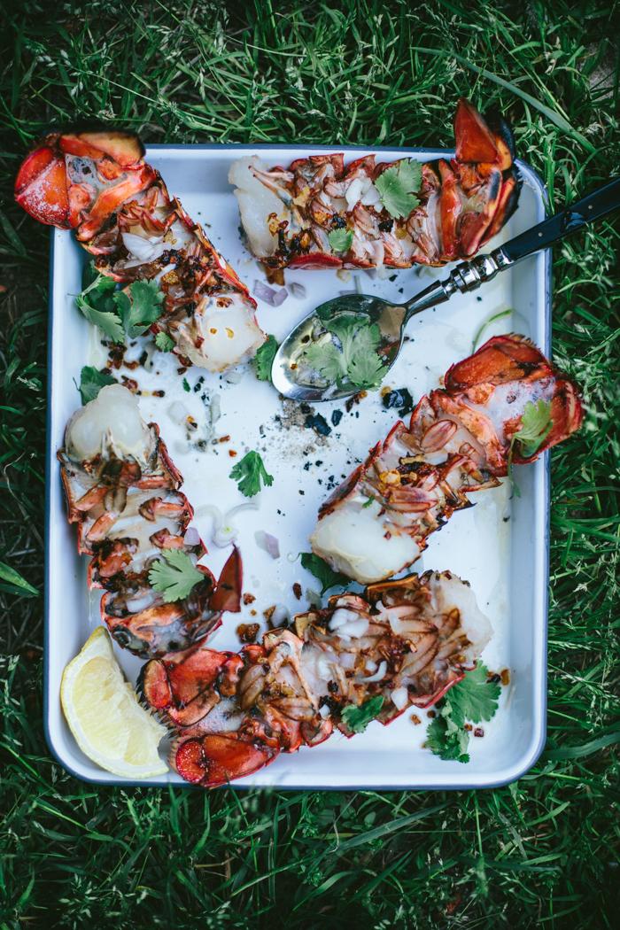 Ember Grilled Lobster Tails by Eva Kosmas Flores