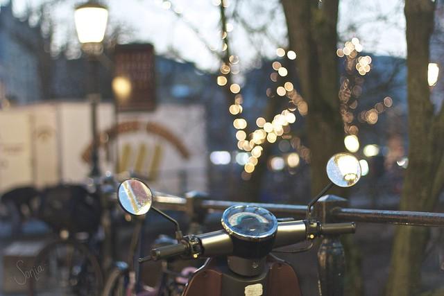 Vespa lights/ Explored #11