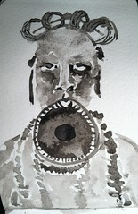 mursi man with lip plate