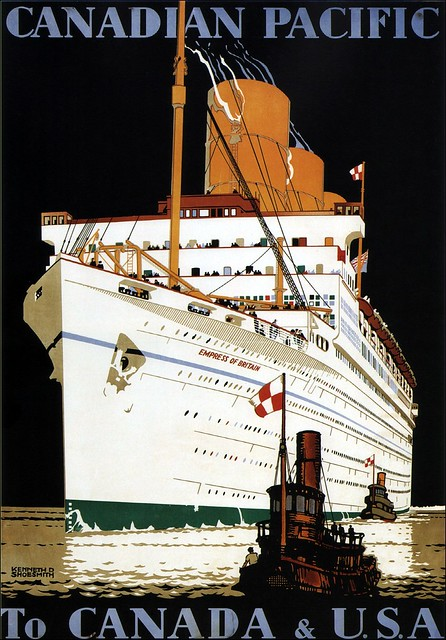 Kennet Shoesmith. Canadian Pacific to Canada & USA. 1933