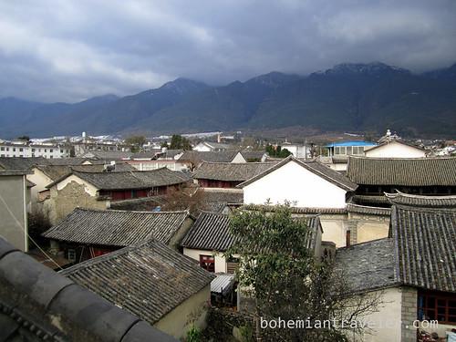 rooftops of Dali Yunnan China