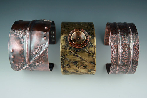 brass and copper cuffs