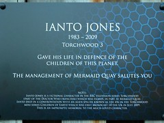 Photo of Ianto Jones blue plaque