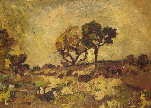Adolphe Monticelli - Sunset [c.1882-84] by Gandalf's Gallery